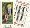 Holy Card-Lady Of Lourdes