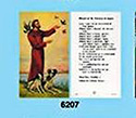 Holy Card-St Francis
