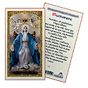 Holy Card-Virgen Maria