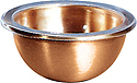 Holy Water Font Liner-Satin Bronze, 3-3/4