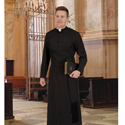 Roman Style Cassock in Broadcloth Fabric