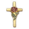 Pin-Cross & Rose