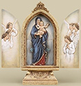Plaque-Madonna And Child Triptych